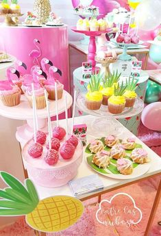 Every now and then I have the pleasure of working with repeat customers. This was the case with this adorable and sweet Ballerina Birthday P. Hawaii Birthday Party, Luau Theme Party, Aloha Party, Hawaiian Luau Party, Ballerina Birthday Parties, Tropical Party, 4th Birthday, Flamingo Party Supplies, Pink Flamingo Party
