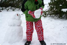 Sew Can Do: Make Your Own Snow Gear Part 2: Insulated Snow Mittens and pants