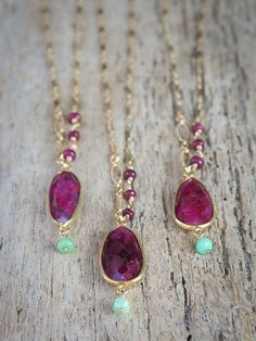 Bezel set Ruby Necklace / Bridesmaid by AlisonStorryJewelry, $78.00 #ruby #rubynecklace #alisonstorryjewelry