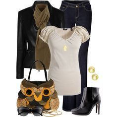 Owl, created by kimberly-lp on Polyvore