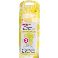 This yellow tie dye kit is perfect for allover color, one-color tie-dye effects or adding to your tie-dye party extras! Tie Dye Supplies, Tulip Colors, Colours, Diy Tie Dye Shirts, Tie Dye Party, Tie Dye Kit, Tie Dye Socks, Yellow Ties, Color Yellow