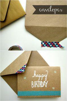Washi Tape Envelope Flaps