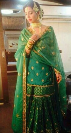 Dresses ideas For pakistani wear green colour base salwar kameez . To customised this garment log on to www. Pakistani Wedding Outfits, Pakistani Wedding Dresses, Pakistani Dress Design, Bridal Outfits, Indian Attire, Indian Wear, Indian Outfits, Sharara Designs, Mehndi Outfit