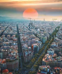 Sunrise in Barcelona - Spain ✨❤️❤️❤️✨ Picture and edit by ✨✨ . for a feature ❤️ World Beautiful City, Most Beautiful Cities, Wonderful Places, Places To Travel, Travel Destinations, Places To Visit, Barcelona City, Barcelona Catalonia, Barcelona Travel