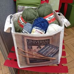 Displaying vintage wool in a Dotty Designs storage cube at the I Knit Fandango Fair