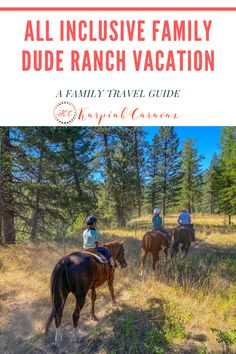 Horseback riding, white water rafting, archery, swimming and so much more. A family vacation at an all-inclusive dude ranch is a must for everyone's travel list! Family Resorts, Family Vacation Destinations, Travel List, Travel Guides, Dude Ranch Vacations, Worldwide Travel, Best Places To Travel, Canada Travel, Horseback Riding