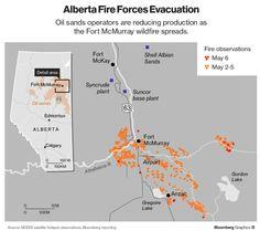 Canada: le fiamme in Alberta minacciano Suncor Oil - Materie Prime - Commoditiestrading