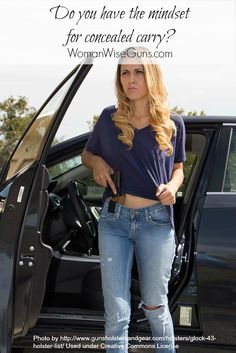 How do you prepare not only physically, but mentally, for concealed carry? There are challenges to having the right mindset. Concealed Carry Women, Concealed Carry Holsters, Gun Holster, Airsoft, Pink Guns, Military Women, Military Gear, Country Girls, Carry On