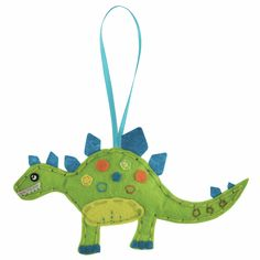 Boy's Dinosaur Kit, Girl's Make Your Own Felt Dinosaur, Kid's Easy Craft Kit Make A Dinosaur, Dinosaur Crafts, Dinosaur Stuffed Animal, Felt Christmas Decorations, Christmas Crafts, Make Your Own, Make It Yourself, Minerva Crafts, Little Presents