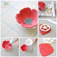 Képes segítségek, fondant figurák, cukorpaszta virágok készítéséhez