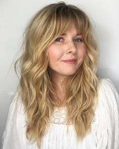 Brunette Balayage for Thick Hair - 50 Cute Long Layered Haircuts with Bangs 2019 - The Trending Hairstyle Layered Haircuts With Bangs, Short Hair With Layers, Layered Hairstyles, Choppy Layers, Long Wavy Hairstyles, Haircuts For Wavy Hair, Braided Hairstyles, Formal Hairstyles, Haircut Wavy Hair