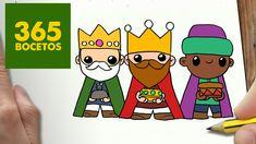 COMO DIBUJAR REYES MAGOS PARA NAVIDAD PASO A PASO: Dibujos kawaii navide...