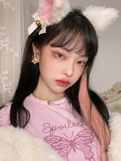 Ulzzang Makeup, Asian Short Hair, Beautiful Girl Makeup, Pretty Korean Girls, Ulzzang Korean Girl, Uzzlang Girl, Cute Girl Face, Kawaii Girl, Aesthetic Girl