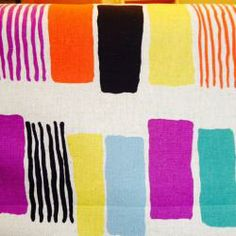 Kobayashi Project by Cotton Painted Geometric Canvas Multi : Drygoods...