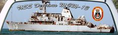 USS Dextrous MCM-13 Mine Countermeasures Ship Rear Window Mural.