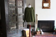 unisex army green 90s pullover slouchy knit sweater by acupfullofsunshine, $32.00