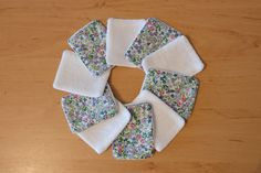 Lot de 10 lingettes démaquillantes lavables très douces, tissu certifié Oekotex 100 : Soin, bien-être par les-manalas