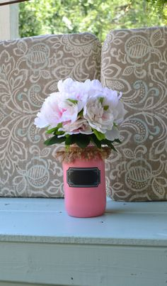 A personal favorite from my Etsy shop https://www.etsy.com/listing/467835627/everyone-loves-a-pink-mason-jar