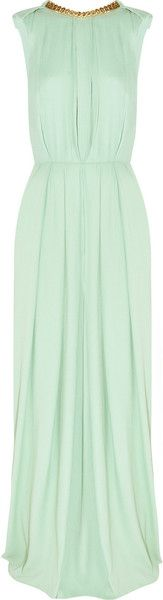 BY MALENE BIRGER new CRUISE COLLECTION Chain Trimmed Pleated Crepe Gown dressmesweetiedarling