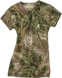 Alabama Crimson Tide Women's Realtree Outfitters Camouflage T-Shirt Camouflage T Shirts, Camo Shirts, Hunting Camouflage, Bow Hunting, Country Outfits, Alabama Crimson Tide, My Style, Roll Tide, Mens Tops