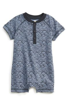 Tea+Collection+'Swaying+Sea'+Raglan+Sleeve+Romper+(Baby+Boys)+available+at+#Nordstrom