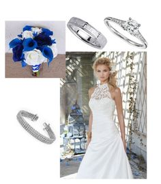 """white and blue"" by kayla-adams-2 on Polyvore featuring Kobelli and Blue Nile"