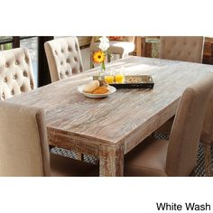 Serve dinner in beautiful country style on this handmade rectangular dining table. At 36x72 inches, the table is big enough for six people, so you can serve a group of friends or family.