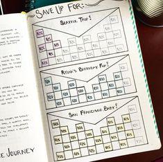 Nicole's Savings Tracker in her Bullet Journal