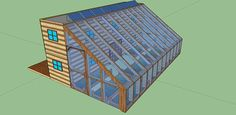 640sqft Solar Powered Shipping Container Cabin with Greenhouse For $25k