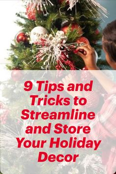 The most wonderful time of the year comes with lots of decors to manage. These 9 organization tips make storing holiday decorations easy as (pumpkin) pie! #homedecor #organizationtips #storingholidaydecor #homeedit Home Buying Process, Buying A New Home, Christmas Wreaths, Christmas Tree, Time Of The Year, Holiday Decorations, Organization Hacks, Wonderful Time, New Homes