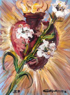 Most Chaste Heart of Saint Joseph - Catholic Art - Religious - Christian Art - Sacred Art Gallery - Jose Luis Castrillo St Joseph Catholic, Catholic Art, Religious Art, Holly Pictures, Biblical Art, Sacred Art, Christian Art, Beautiful Paintings, Oil Painting On Canvas