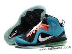 Nike LeBron 9 P.S. Elite Shoes Black Jade Orange