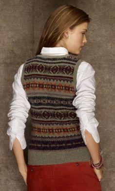 ✔ Wool Fair Isle Vest