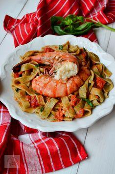 Tagliatelle cu creveti Ratatouille, Paella, Unt, Pizza, Ethnic Recipes, Food, Salads, Essen, Meals