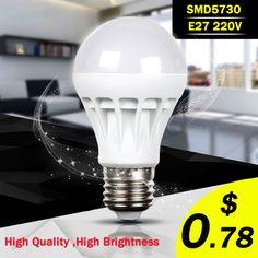 High Power E27 Led Bulb 5730SMD 3W 5W 7W 9W 10W 12W LED Lamp, 220V Light Bulb For Home Led Spotlight Lamps