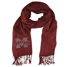 Mississippi State Bulldogs NCAA Pashi Fan Scarf (Dark Red)