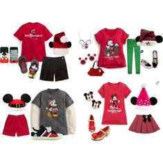 Mickey's Very Merry Christmas Party Family Outfits by mamaspartydress on Polyvore featuring Disney, Abercrombie & Fitch, adidas, christmas, disney and mickey mouse