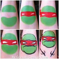 teenage mutant ninja turtles face paint - Google Search