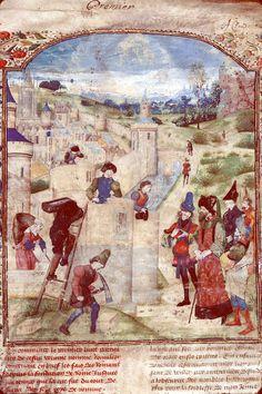 Construction de Rome, BM Mâcon, ms. 0850, fol. 001, 1466-1467