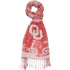 Oklahoma Sooners Ladies Crinkle Scarf - Crimson/Cream