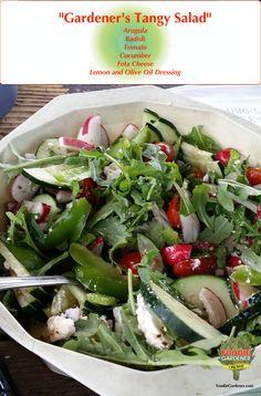 Garden Fresh Tangy Salad | The Foodie Gardener™