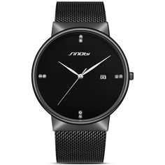 Cheap homme fashion, Buy Quality homme montre directly from China homme luxury Suppliers: GUANQIN Luxury Brand Business Casual Black Stainless Steel Quartz Watch Men Fashion Calendar Waterproof Wristwatch Montre Homme Men's Watches, Sport Watches, Black Watches, Wrist Watches, Fashion Watches, Simple Watches, Casual Watches, Stylish Watches, Fashion Calendar