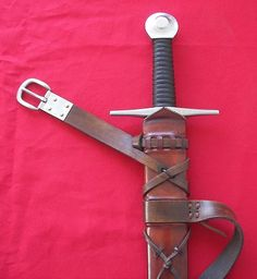 Excellent page by Ye Olde Gaffer (never mind) on his Medieval Sword Scabbard How to Project