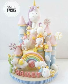 Cupcakes birthday kuchen 33 ideas for 2019 Fondant Cakes, Cupcake Cakes, Kid Cakes, Pony Cake, Birthday Cupcakes, Castle Birthday Cakes, Cute Cakes, Yummy Cakes, Unicorn Birthday