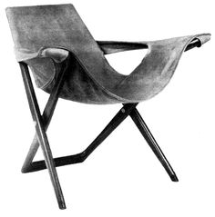 Silla plegable diseñado para la Exposición Mundial de Bruselas, Bélgica 1958 (encargó del arquitecto Pedro Ramírez Vázquez)  Diseñador: Ernesto Gómez Gallardo -   Folding chair designed for the Brusels World's Fair 1958 (commisioned by architect Pedro Ramirez Vazquez)  Designer: Ernesto Gomez Gallardo