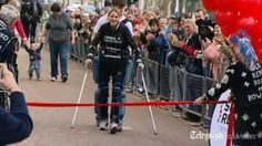 """""""Claire Lomas of the U.K. was paralyzed from the chest down in a horse-riding accident five years ago. Yet today, she accomplished something difficult for anyone: she finished the London Marathon. It took 16 days and one impressive bionic exoskeleton, but she did it."""""""