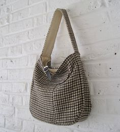 Handmade Recycled Harris Tweed Bag (with free small matching pouch) by MadeinW6 on Etsy
