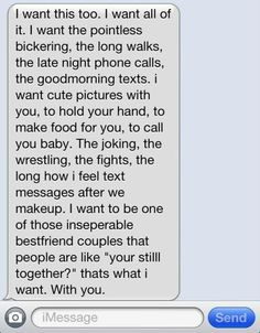 maybe not the wrestling part.. that's just weird..