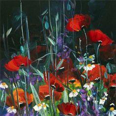 Painter Hikmet Çetinkaya (Türkiye) Abstract Flowers, Watercolor Flowers, Batik Art, Painting & Drawing, Flower Art, Canvas Wall Art, Poppies, Art Drawings, Artwork