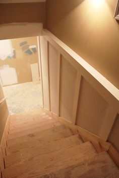 basement board and batten under construction